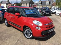 USED 2014 14 FIAT 500L 1.2 MULTIJET LOUNGE 5d 85 BHP low price low mileage diesel with full service history