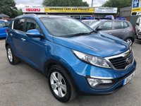 2013 KIA SPORTAGE 2.0 CRDI KX-2 5 DOOR AUTOMATIC 134 BHP IN METAL;LIC BLUE WITH ONLY 1 OWNER,60000 MILES AND A FULL SERVICE HISTORY. £9499.00