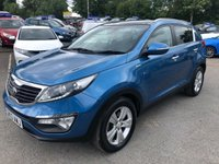 USED 2013 13 KIA SPORTAGE 2.0 CRDI KX-2 5 DOOR AUTOMATIC 134 BHP IN METAL;LIC BLUE WITH ONLY 1 OWNER,60000 MILES AND A FULL SERVICE HISTORY. APPROVED CARS ARE PLEASED TO OFFER THIS KIA SPORTAGE 2.0 CRDI KX-2 5 DOOR AUTOMATIC 134 BHP IN METALLIC BLUE WITH 1 OWNER,60000 MILES AND A FULL SERVICE HISTORY SERVICED AT 13K,19K,28K,40K,49K AND 59K. IN IMMACULATE CONDITION WITH A FULLY AUTOMATIC GEARBOX,ALLOYS,BLUETOOTH,4 X ELECTRIC WINDOWS AND MUCH MORE A GREAT KIA SPORTAGE AUTOMATIC AND AT A VERY SENSIBLE PRICE.NOT TO BE MISSED FIRST TO VIEW WILL BUY.