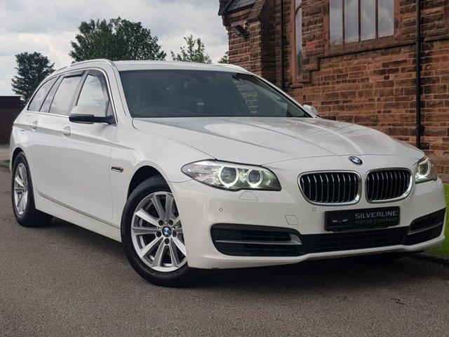 2014 14 BMW 5 SERIES 2.0 520D SE TOURING 5d 181 BHP [FULL LEATHER & SAT NAV]