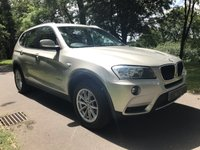USED 2011 61 BMW X3 2.0 XDRIVE20D SE 5d AUTO 181 BHP A Well Equipped Mid Size SUV with 53.3MPG Achieved Thanks to Stop Start Technology and an Eight-Speed Automatic Gearbox. Presented in Mineral Silver Metallic with a Full Black Leather Interior, Features Include, Heated Adjustable Leather Seats, Dual Zone Climate Control, Air Conditioning, Leather Multi Function Steering Wheel, Front & Rear Parking Sensors, BMW Professional Radio with CD & MP3, Dynamic Traction Control, Isofix Anchorage Points and the Benefit of XDrive 4 Wheel Drive.