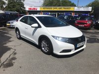 2013 HONDA CIVIC 2.2 I-DTEC ES 5d 148 BHP IN METALLIC WHITE WITH 96,000 MILES AND A FULL SERVICE HISTORY £4999.00