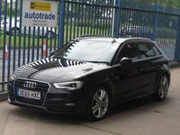 2015 AUDI A3 1.6 TDI S LINE NAV 5d Sat nav 1/2 Leather Cruise £13500.00