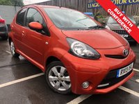 USED 2013 13 TOYOTA AYGO 1.0 VVT-I FIRE MM AC 5d AUTO 67 BHP SMALL AUTOMATIC + ONE PREVIOUS OWNER