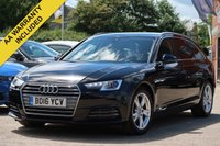USED 2016 16 AUDI A4 2.0 AVANT TDI ULTRA SPORT 5d 148 BHP FULL MAIN DEALER HISTORY SATELLITE NAVIGATION ELECTRIC TAILGATE