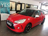 USED 2010 10 CITROEN DS3 1.6 DSPORT 3d 155 BHP Finished in Sport Red with a White & Black roof. Privately owned, full service history- 5 stamps, December Mot- Advisory free. Comes with both looks and performance.