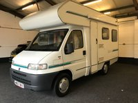 2000 FIAT DUCATO 1.9 MOTORHOME 1d NO VAT 4 BIRTH FULL KITCHEN TOILET LOW MILES SH MOT 04/20 £11900.00