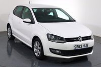 USED 2013 63 VOLKSWAGEN POLO 1.2 MATCH EDITION 5d 59 BHP BLUETOOTH I PARKING SENSORS