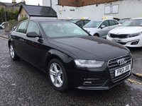 USED 2013 13 AUDI A4 2.0 TDI SE TECHNIK 4d AUTO 141 BHP STUNNING AUDI A4 SE TECHNIK, WITH FULL LEATHER INTERIOR, PART SERVICE HISTORY AND TWO KEYS.