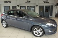 USED 2012 61 FORD FOCUS 1.6 ZETEC TDCI 5d 113 BHP FINISHED IN STUNNING GREY WITH ANTHRACITE CLOTH SEATS + EXCELLENT FORD SERVICE HISTORY + £20 ROAD TAX + BLUETOOTH + DAB RADIO + AIR CONDITIONING + 17 INCH ALLOYS