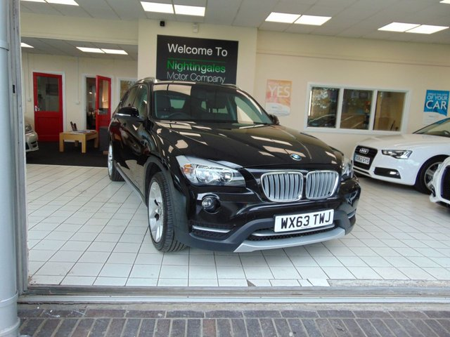 """USED 2013 63 BMW X1 2.0 XDRIVE18D XLINE 5d 141 BHP FULL SERVICE HISTORY + FULL MOT + 4 WHEEL DRIVE + DUEL AIR CONDITIONING + FULL LEATHER TRIM + DAB RADIO + 18"""" ALLOYS + ELECTRIC WINDOWS + REMOTE CENTRAL LOCKING +"""