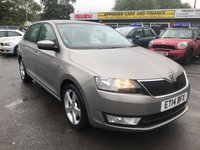 2014 SKODA RAPID 1.4 SPACEBACK ELEGANCE GREENTECH TSI DSG 5d AUTO 121 BHP IN METALLIC BEIGE WITH 39,000 MILES AND A FULL SERVICE HISTORY! £6999.00