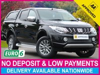 USED 2018 67 MITSUBISHI L200 2.4 DI-D BARBARIAN DOUBLE CAB HARDTOP CANOPY EURO 6 HARDTOP CANOPY SATELLITE NAVIGATION LEATHER
