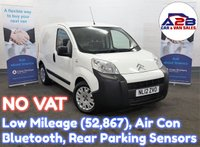 USED 2012 12 CITROEN NEMO 1.3 660 ENTERPRISE HDI 75bhp with NO VAT TO PAY, Low Mileage (52867) Air Conditioning, Bluetooth, Rear Parking Sensors, Sliding Door and more **** NO VAT TO PAY ON THIS VAN ****