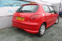 USED 2007 57 PEUGEOT 206 1.4 LOOK 5d 74 BHP PETROL RED EXCELLENT CONDITION + CAMBELT HAS BEEN REPLACED