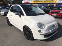 2012 FIAT 500 0.9 LOUNGE 3d 85 BHP IN METALLIC WHITE WITH 56,000 MILES AND A FULL SERVICE HISTORY! £3999.00