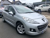 USED 2012 12 PEUGEOT 207 1.4 SPORTIUM 5d 95 BHP SAT NAV + ALLOYS + AIR CON + CD PLAYER