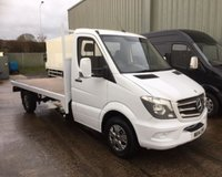 USED 2014 MERCEDES-BENZ SPRINTER 313 CDI (130 BHP) LONG WHEEL BASE FLAT BED