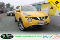 USED 2014 64 NISSAN JUKE 1.5 ACENTA DCI 5d 110 BHP PETROL YELLOW LOOKS AND DRIVES FANTASTIC