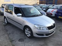 USED 2012 12 SKODA ROOMSTER 1.2 SE 12V 5d 68 BHP Great value roomster, silver, sunroof, alloys, 62000 miles, service history,