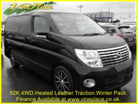 2007 NISSAN ELGRAND Highway Star Black Leather Edition Premium Pack 3.5 4WD Auto 8 Seats £10500.00