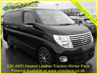 2007 NISSAN ELGRAND Highway Star Black Leather Edition Premium Pack 3.5 4WD Auto 8 Seats £9500.00