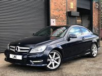 USED 2013 13 MERCEDES-BENZ C CLASS 1.6 C180 BLUEEFFICIENCY AMG SPORT 2DR AUTO 154 BHP +LEATHER+SAT NAV+18s