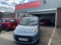 USED 2014 63 FIAT QUBO 1.2 MULTIJET MYLIFE DUALOGIC 5d AUTO 75 BHP WITH  ALLOY WHEELS!!..EXCELLENT FUEL ECONOMY!...LOW CO2 EMISSIONS..£20 TAX, ONLY 8662 MILES FROM NEW!! MEETS LARGE CITY EMISSIONS!