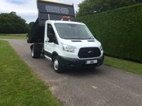 USED 2016 66 FORD TRANSIT T350 TDCI 125ps Tipper * Twin Rear Wheels * 33000 Miles