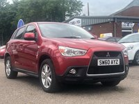 USED 2010 60 MITSUBISHI ASX 1.8 DI-D 3 5d 147 BHP 1 PREVIOUS KEEPER *  FULL SERVICE RECORD *  PRIVACY GLASS *  17 INCH ALLOYS *  CLIMATE CONTROL *  PARKING AID *
