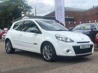 USED 2012 12 RENAULT CLIO 1.1 DYNAMIQUE TOMTOM 16V 3d 75 BHP NAVIGATION SYSTEM +   BLUETOOTH *  HALF LEATHER TRIM * SERVICE RECORD *