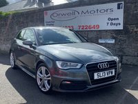 USED 2013 13 AUDI A3 2.0 TDI S LINE 3d 148 BHP FINANCE AVAILABLE+2 OWNERS+FULL SERVICE HISTORY