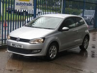 2013 VOLKSWAGEN POLO 1.2 MATCH EDITION 3d Cruise DAB Alloys Rear sensors £5500.00