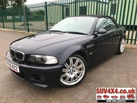 USED 2005 05 BMW M3 3.2 M3 2d 338 BHP CONVERTIBLE ALLOYS SATNAV LEATHER FSH A/C MOT 06/20 M-SPORT FLAGSHIP MODEL. SATELLITE NAVIGATION. CONVERTIBLE. LSD RWD. STUNNING BLACK WITH FULL GREY LEATHER SPORTS TRIM. ELECTRIC MEMORY HEATED SEATS. CRUISE CONTROL. 19 INCH ORIGINAL ALLOYS. COLOUR CODED TRIMS. PARKING SENSORS. BLUETOOTH PREP. DUAL CLIMATE CONTROL INCLUDING AIR CON. HARMAN CARDON R/CD PLAYER. 6 SPEED MANUAL. MFSW. MOT 06/20. FULL SERVICE HISTORY. AGE/MILEAGE RELATED SALE. PART EXCHANGE CLEARANCE CENTRE - LS23 7FQ. TEL 01937 849492. OPTION 4