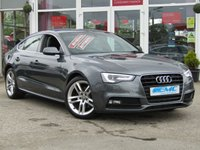 USED 2014 14 AUDI A5 2.0 SPORTBACK TDI S LINE S/S 5d AUTO 148 BHP STUNNING, AUDI A5 2.0 TDI S/LINE SPORTBACK AUTO, 5 DOOR. Finished in DAYTONA GREY PEARL with contrasting full heated EBONY LEATHER. This A5 is stylish, looks great and feels very well built. It has a plush interior with every extra. Features include, Sat Nav, Front heated seats, DAB radio, B/Tooth, Park Sensors and much more. Audi Dealer serviced at 19672 miles, 39440 miles, 61194 miles, 71096 miles and at 82238 miles on 11/4/2019. Comes with 12 months MOT.