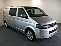 USED 2015 64 VOLKSWAGEN TRANSPORTER 2.0 T32 TDI P/V HIGHLINE 1d 140 BHP COMBI 7 SEATS FITTED WITH A REMOVABLE 3RD ROW OF SEATING TO MAKE 7 SEATS