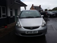 USED 2008 08 HONDA JAZZ 1.3 DSI SE 5d 82 BHP FINANCE AND PART EXCHANGE WELCOME. 3 MONTHS WARRANTY. ALL CARS HAVE A YEAR MOT AND A FRESH SERVICE.