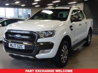 USED 2017 17 FORD RANGER 3.2 WILDTRAK 4X4 DCB TDCI 1d AUTO 197 BHP AA WARRANTY,  MOT AND SERVICE INCLUDED