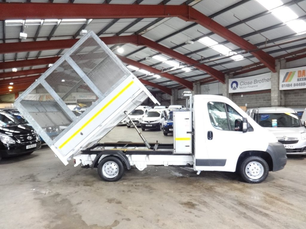 USED 2014 14 PEUGEOT BOXER 2.2 HDI 335 L2 130 BHP  CAGE TIPPER AA DEALER WARRANTY PROMISE - TRADING STANDARDS APPROVED