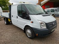 2013 FORD TRANSIT 350 Utility Cab Factory One Stop Tipper 125 PS *REAR STORAGE AREA* £SOLD