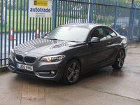 2015 BMW 2 SERIES 2.0 220D SPORT 2d DAB Rear park sensors Alloys £12795.00
