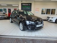 USED 2012 12 AUDI A1 1.6 SPORTBACK TDI SPORT 5d 103 BHP LONG MOT + ZERO TAX + AIR CONDITIONING + ALLOYS + RADIO /CD PLAYER + ELECTRIC WINDOWS + ELECTRIC MIRRORS + DRIVERS SEAT HEIGHT ADJUSTMENT + REMOTE CENTRAL LOCKING