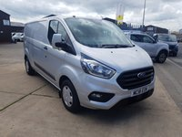 2018 FORD TRANSIT CUSTOM 2.0 300 TREND LONG WHEELBASE NEW SHAPE  LOW ROOF L2H1 PANEL VAN 130 BHP £14495.00