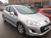 USED 2012 61 PEUGEOT 308 1.6 HDI SR 5d 92 BHP Sat/nav, 61000 miles, s/h, alloys, air/con, £20 road tax, fantastic economy, superb.