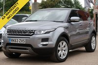 USED 2013 63 LAND ROVER RANGE ROVER EVOQUE 2.2 SD4 PURE TECH 5d 190 BHP NAVIGATION, PANORAMIC ROOF + FULL LEATHER INTERIOR