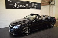 USED 2015 65 MERCEDES-BENZ E CLASS 3.0 E350 BLUETEC AMG LINE 2d AUTO 255 BHP CONVERTIBLE STUNNING LOW MILEAGE EXAMPLE - MB S/H - NAPPA ALPACA LEATHER - NAV - H/SEATS - AIRSCARF - E/SEATS