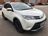 2014 TOYOTA RAV4 2.2 D-4D INVINCIBLE 5 DOOR AUTOMATIC 150 BHP IN WHITE WITH BLACK LEATHER INTERIOR AND ONLY 52000 MILES. £12999.00