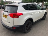USED 2014 63 TOYOTA RAV4 2.2 D-4D INVINCIBLE 5 DOOR AUTOMATIC 150 BHP IN WHITE WITH BLACK LEATHER INTERIOR AND ONLY 52000 MILES. APPROVED CARS ARE PLEASED TO OFFER THIS TOYOTA RAV4 2.2 D-4D INVINCIBLE 5 DOOR AUTOMATIC 150 BHP IN WHITE WITH BLACK FULL LEATHER INTERIOR,AIR CON,ALLOYS,HEATED SEATS,CRUISE CONTROL,REAR CAMERA AND SENSORS WITH A FULL TOYOTA SERVICE HISTORY A GREAT CAR WITH THE BEST COLOUR COMBINATION WHITE WITH BLACK LEATHER.