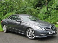 USED 2011 11 MERCEDES-BENZ E CLASS 3.0 E350 CDI BLUEEFFICIENCY SPORT 2d AUTO 231 BHP * 128 POINT AA INSPECTED * AUTOMATIC * DIESEL * FULL LEATHER INTERIOR * CONVERTIBLE *