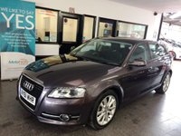 USED 2011 61 AUDI A3 1.6 SPORTBACK TDI SPORT 5d AUTO 103 BHP Two private owners- last gent since 2015. Full and comprehensive Audi service history. Supplied with 12 months Mot. Fitted with Panoramic roof, LED day lights, Xenon headlights and steering wheel paddles.
